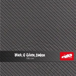 Large Black & Silver Carbon
