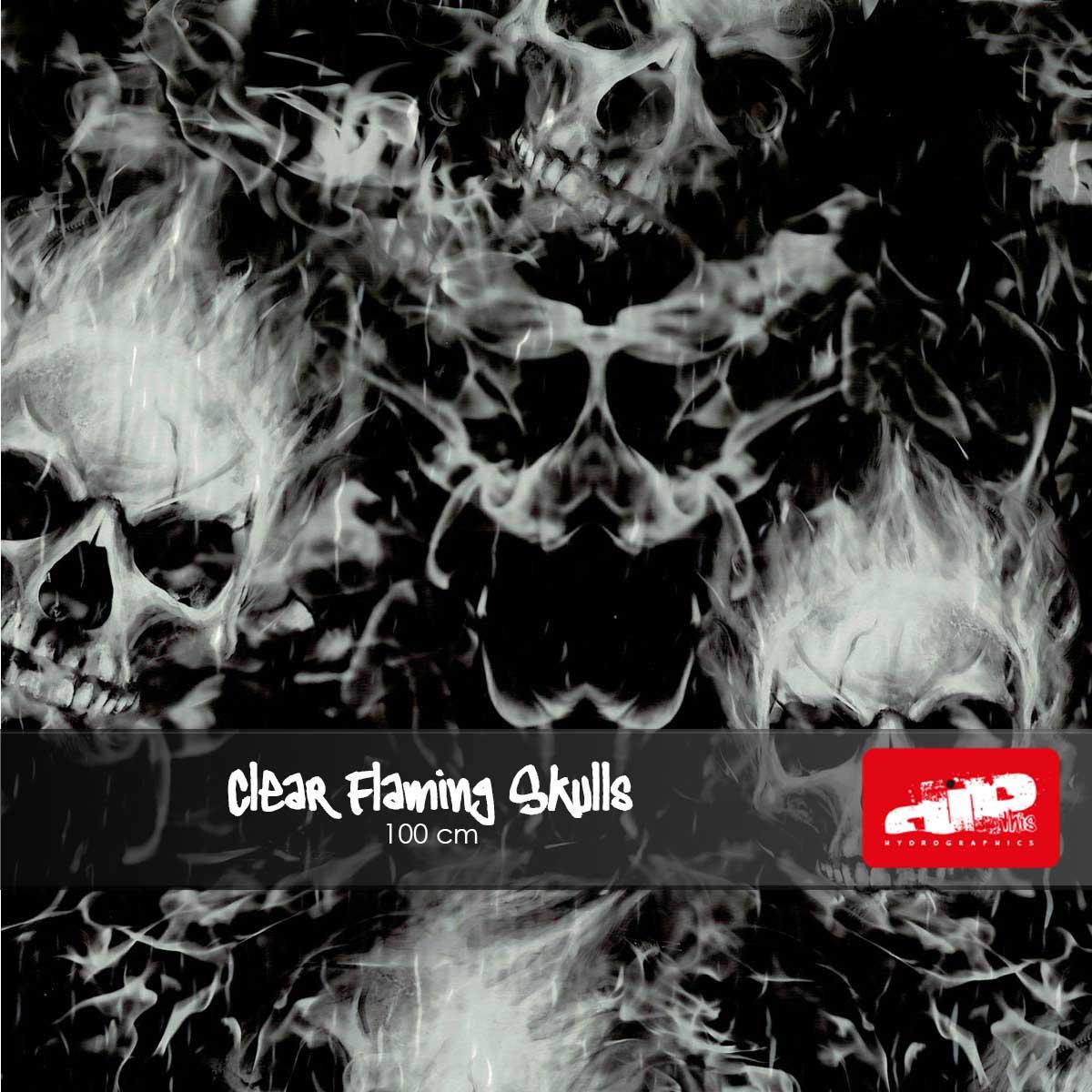 Clear Flaming Skulls