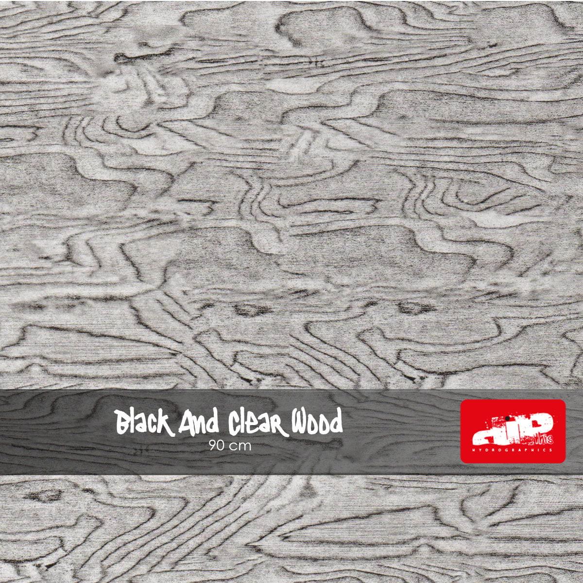 Black & Clear Wood