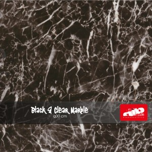 Black & Clear Marble