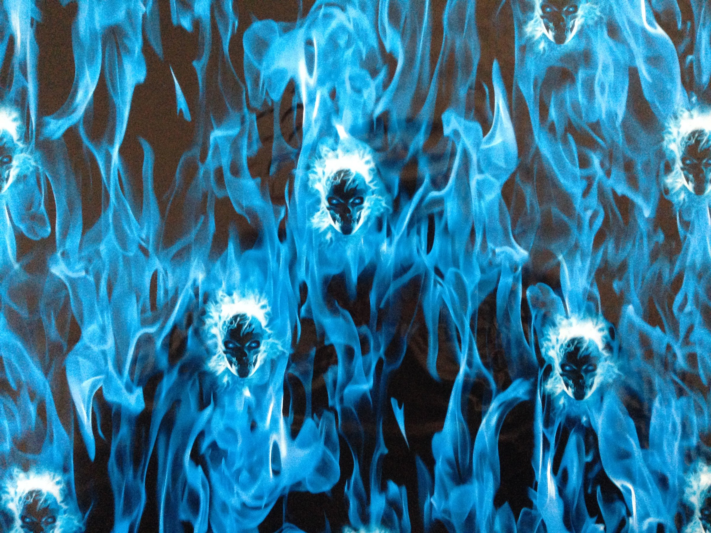 blue flames skull flame - photo #22