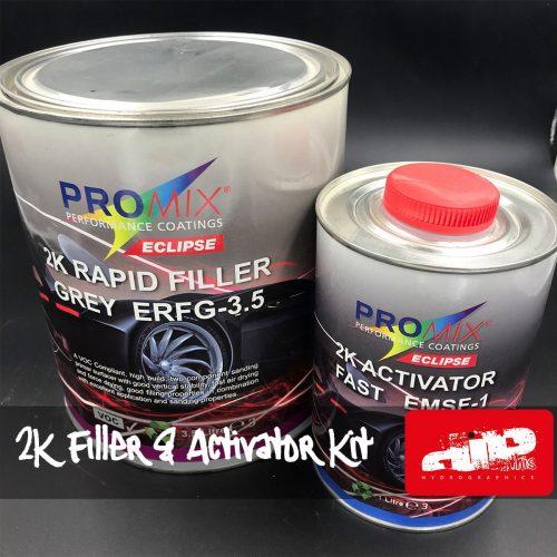 PROMIX 2K Grey Rapid Filler Primer Kit 4.5 Litres