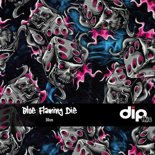 Blue Flaming Die