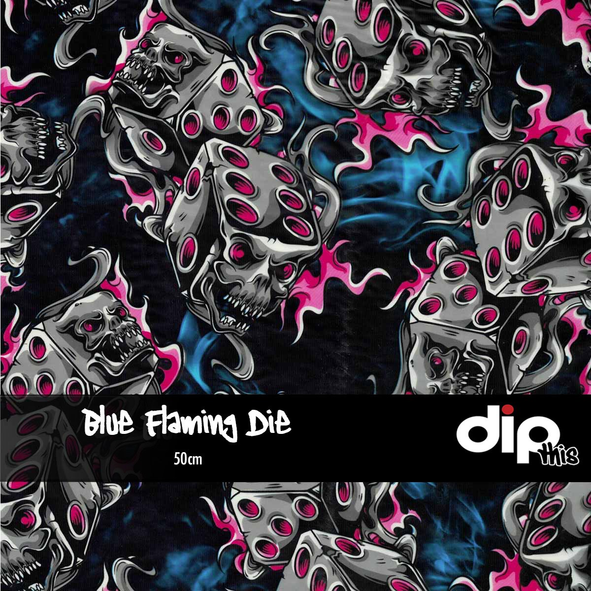 Blue Flaming Die Dip Kit