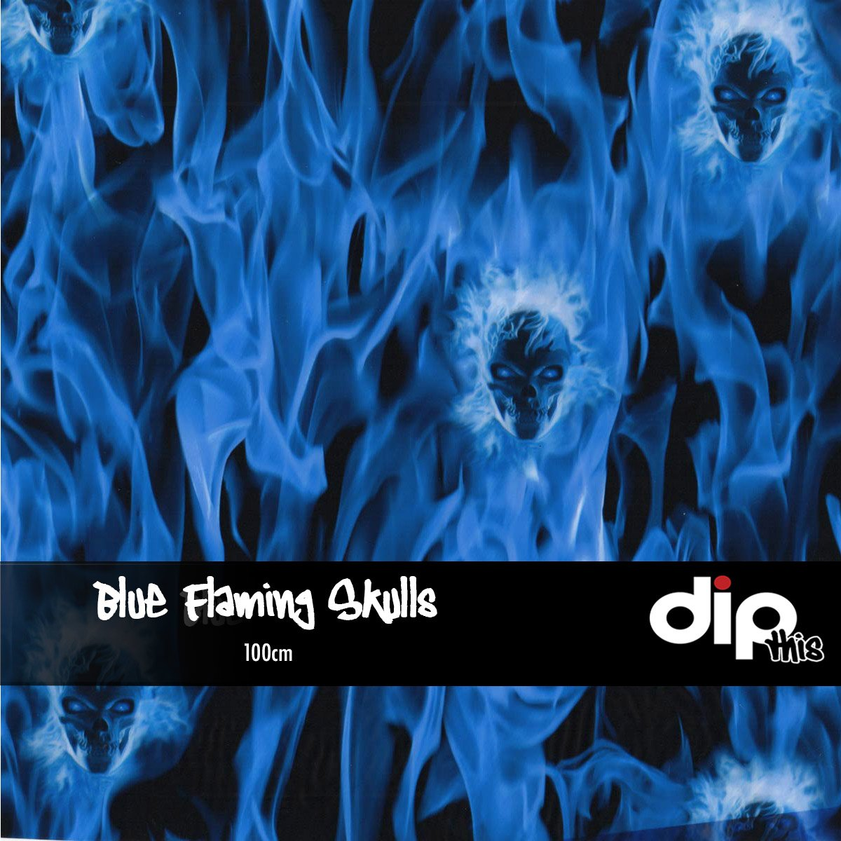 Blue Flaming Skulls Dip Kit
