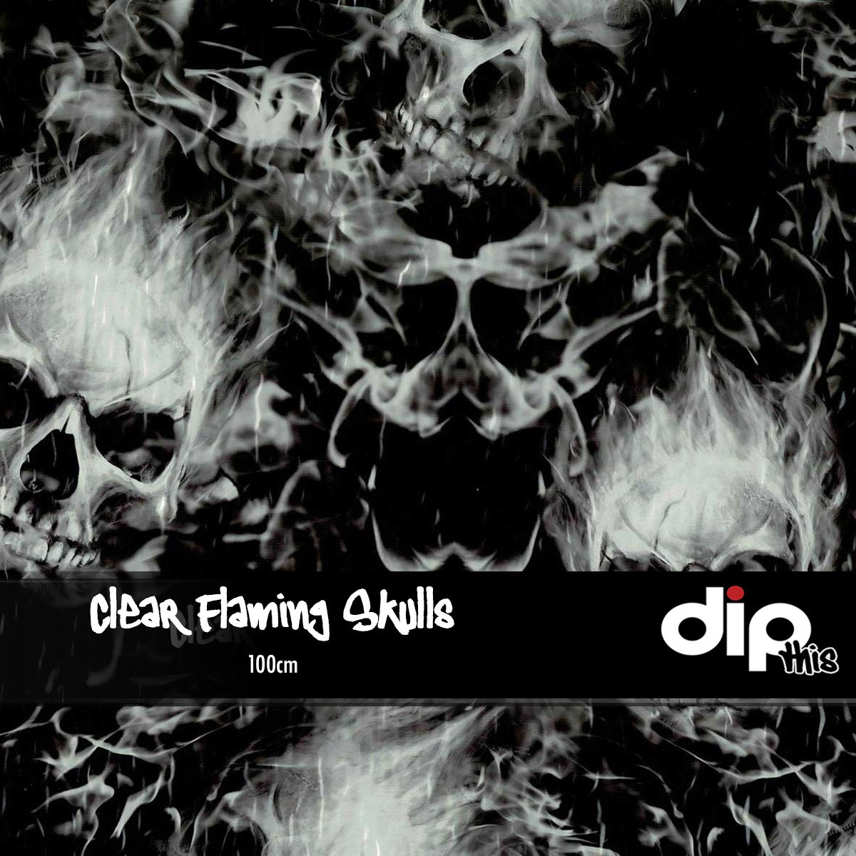 Clear Flaming Skulls Dip Kit