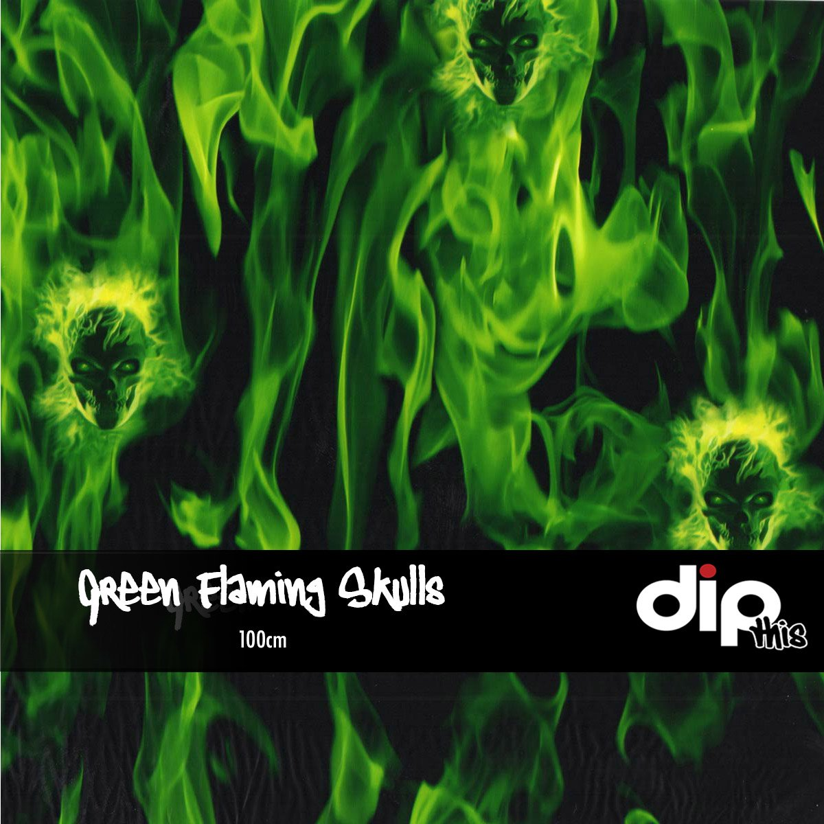 Green Flaming Skulls Dip Kit