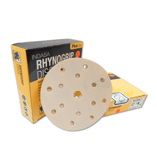 Rhynogrip Indasa Plusline Discs 1-50 Discs Sanding 7 Hole 150mm P180
