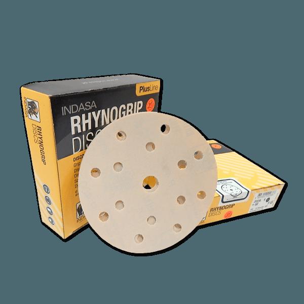 Rhynogrip Indasa Plusline Discs 1-50 Discs Sanding 7 Hole 150mm P500